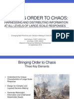 Bringing Order to Chaos - AHMP Conf Sept12