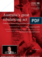 121207 Australia's Great Rebalancing Act - Looking Beyond the Mining Investment Boom