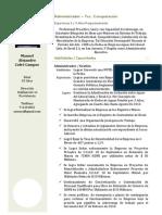 Curriculum V. Manuel Cofre