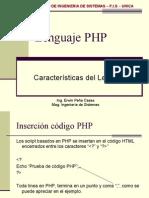 Sesion 03 - Características Del Lenguaje PHP