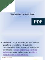 Síndrome de meniere