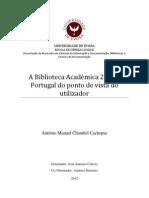 A Biblioteca Académica 2.0 em Portugal do ponto de vista do utilizador