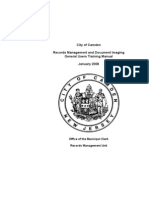 Municipal Records Management Training Manual
