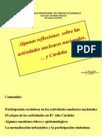 HUGO MARTIN ATOMICA CORDOBA REFLEXIONES ACTIVIDADES NUCLEARES NACIONALES Y CORDOBA...
