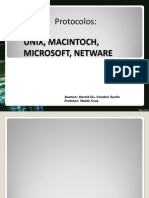 4ta...Protocolos Unix Netware Macintoch y Ymicrosoft