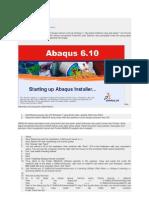 Install Abaqus