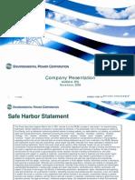 EPC Investor Presentation 110708