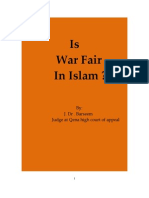 Is the War Fair in Islam