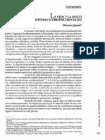 La Vida y La Salud Sistemas Ecobiopsicosociales