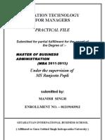 Information Technology Management Practical Files