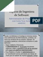 Tópicos de Ingeniera de Software