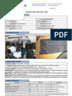 Garment in-line inspection sample report
