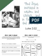 Jesus Grew Booklet-Senior Primary