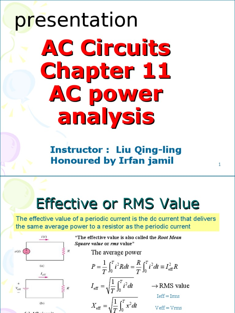 New My Ppt 124 Ac Power Root Mean Square In Circuits