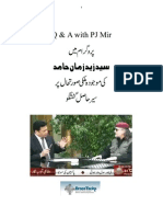 Zaid Hamid on program Q & A with P J Mir - Transcription