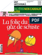 La folie du gaz de schiste. Courrier international n°1153