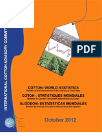 ICAC Cotton World Statistics Bulletin, Oct., 2012