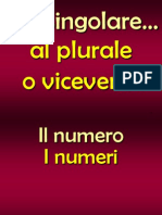 Plurale - Singolare T