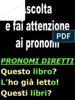 Passpro Hai Gia... Pronomi Diretti... + EX Addue Accordo Pronomi 1 (p.189)