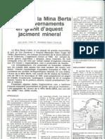 L'avenc de la Mina Berta i els cavernaments en granit d'aquest jaciment mineral.