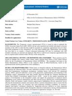 OCHA_G_70_2012 Humanitarian Affairs Officer (P-3) - Associates Surge Pool - SCS_ESB