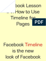 Omc2 Lesson 12 Facebook Lesson How to Use Timeline for Pages PDF