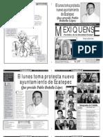 Versión impresa del periódico El mexiquense 7 de diciembre 2012