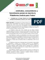 12-12-05 Nota Prensa Plataforma Justicia Para Todos