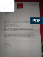 Cover letter sent with Irish Times response to IPSC complaint