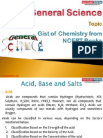 Gist of Chemistry From NCERT Books