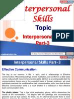 Interpersonal Skills Part 3