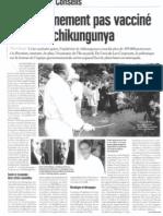 Le gouvernement pas vacciné contre la chikungunya