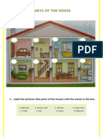 Parts of the House + Present Continuous