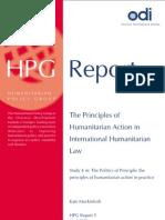 Principle of Humanitarian Law