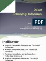 Materi 2 - Dasar Teknologi Informasi