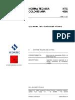 NTC4066 Seguridad en Soldadura y Corte