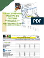 Tasas de Financiamiento Tarjetas Crédito Bancos y Asociaciones