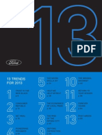 Looking Further with Ford: 13 Trends for 2013