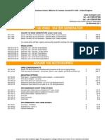 CD 3001 Ampair Price List (Rev 1 5 Dec 2011)