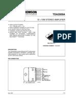 TDA2009a Datasheet