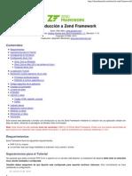 Introducción a Zend Framework Daniel