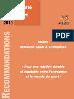 Charte Relations Sport et Entreprises - juin 2011