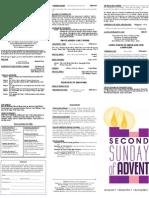 Bulletin - 20121209 2nd Advent