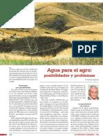 Agua Para El Agro Posibilidades y Problemas