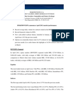 Notice to the Market - Market Performance - April 2011
