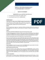 Notice to the Market - Market Performance - April 2012