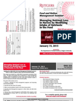 Rutgers Horse Feed and Ration Management Seminar – January 15, 2013