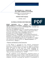 Material Fact - Incorporation of BVSP and CBLC
