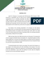 RME Shareholder Restructuring