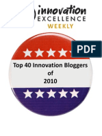 Top 40 Innovation Bloggers of 2010